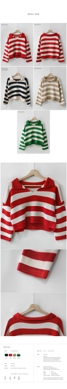 Striped Crop Knitwear