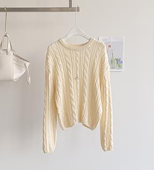 Twisted Round Knitwear #108874