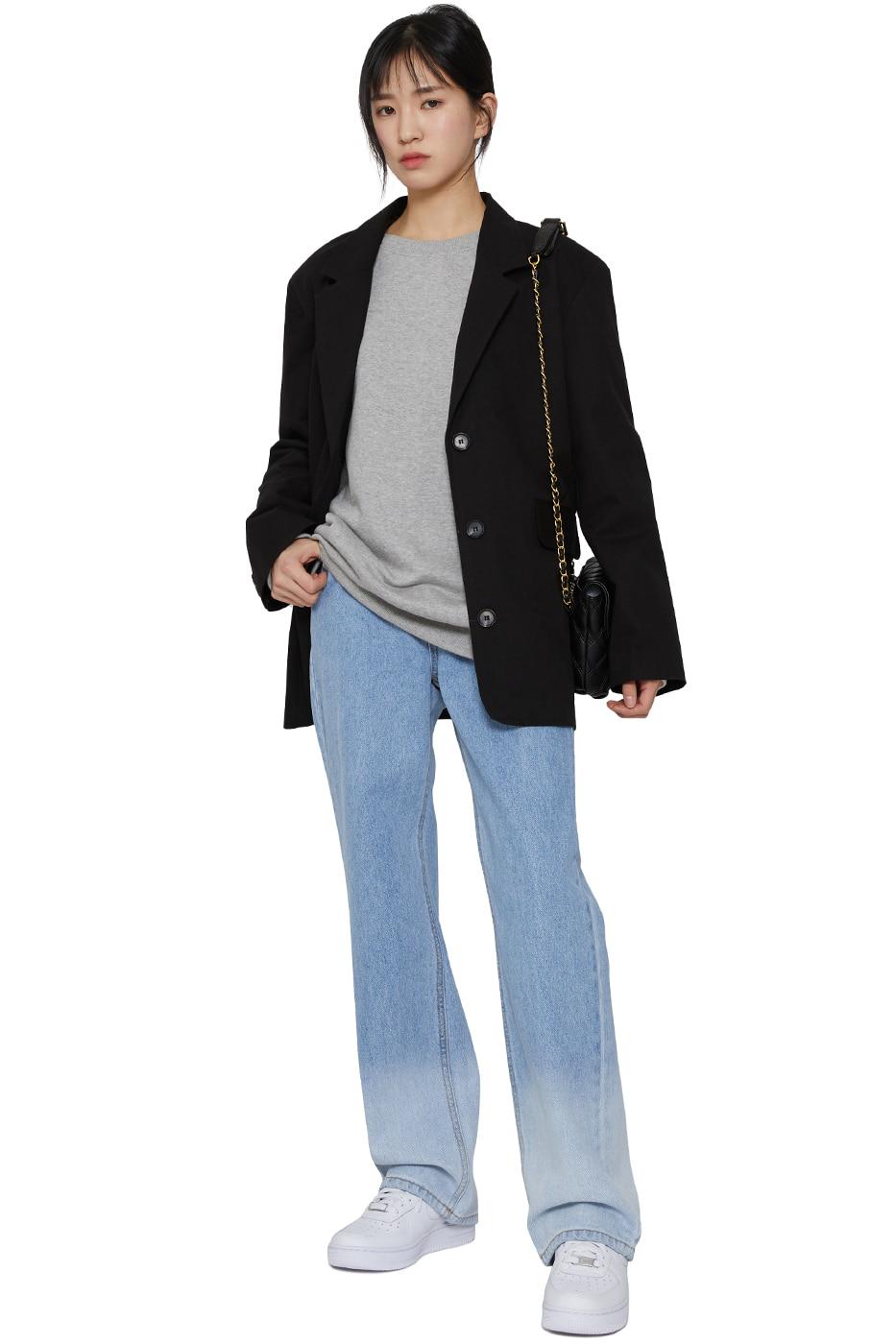 Crunchy cotton single blazer