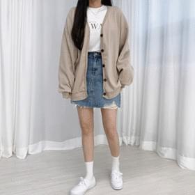 Cotton daily Boxy cardigan 開襟衫