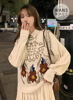 vt3639 Charming Pattern Knitwear Vest
