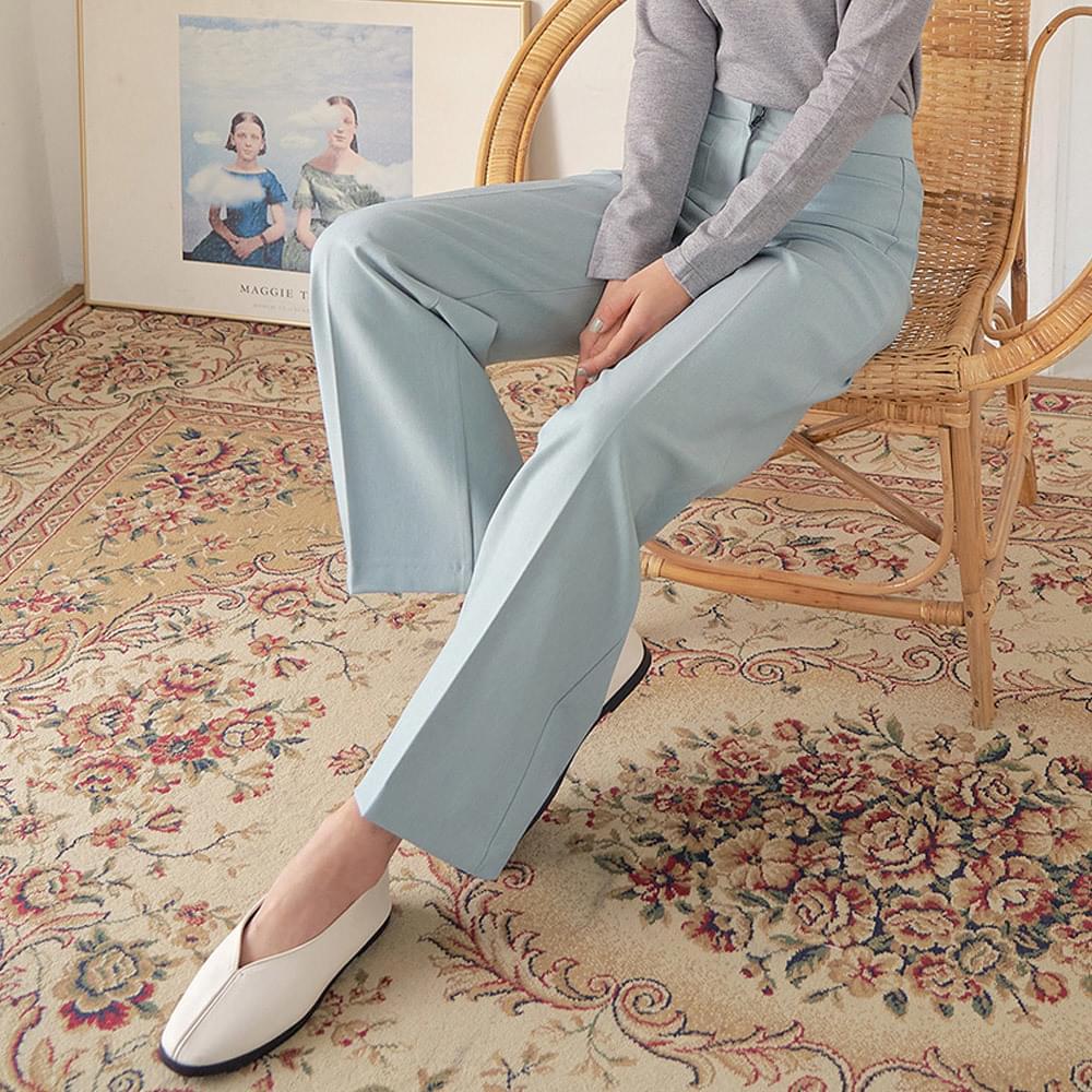 Square pocket wide slacks