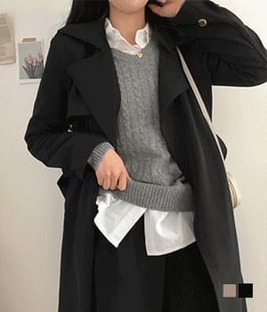 韓國空運 - Collectible Greedy Novton Belt Trench Coat 大衣外套