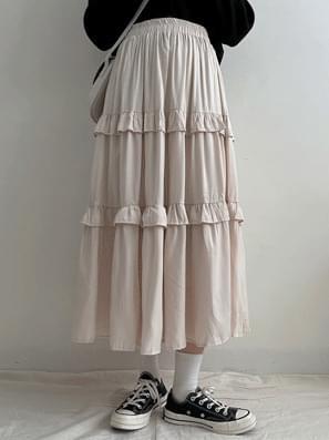 Chiffon Cancan Flare Skirt