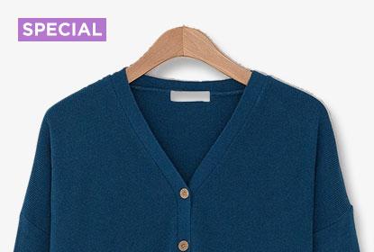 經典藍針織外套的15種穿搭法
