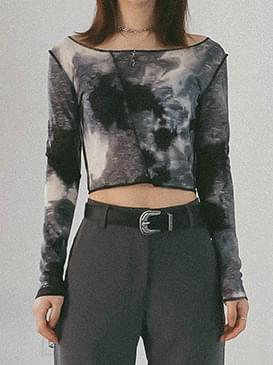 Tie-dye moment cropped T-shirt