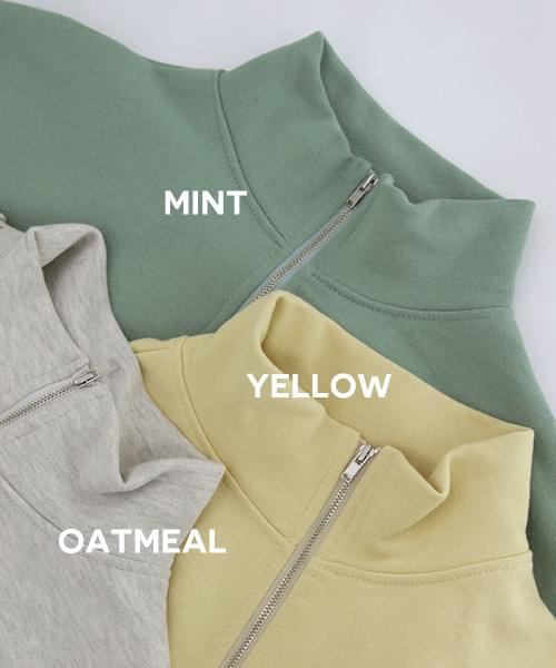 Pastel Sweatshirt half-zip 夾克外套