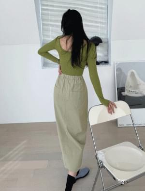 Binder A line slit long skirt 裙子