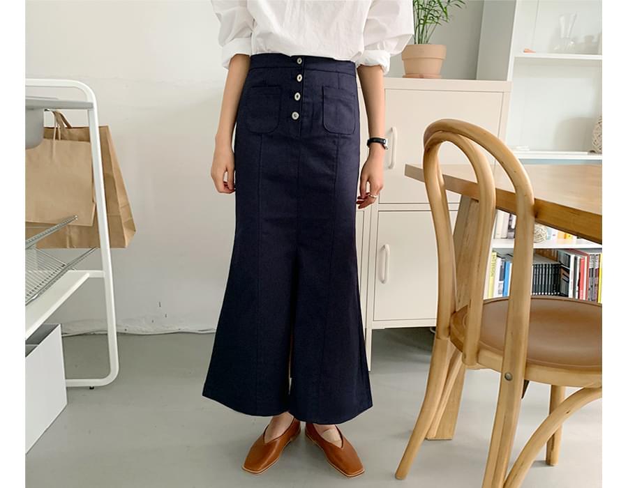 Plain Mermaid Long Skirt