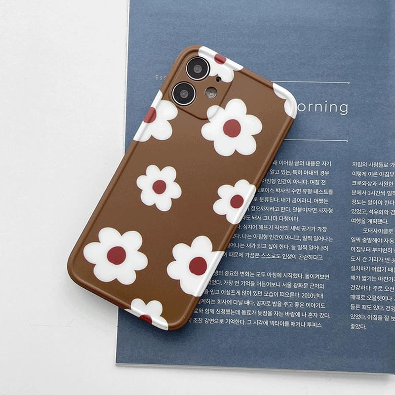 Brown Daisy Full Cover iPhone Case Phone Case