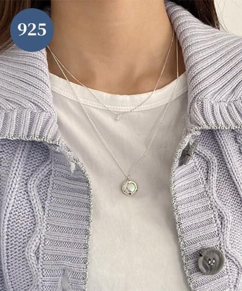 (silver925) carry pearl necklace