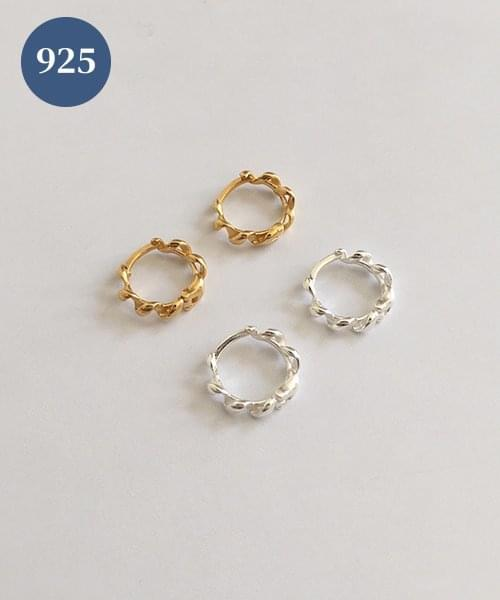 (silver925) curl onetouch earring