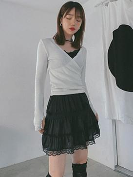 Silky lace mini skirt 裙子