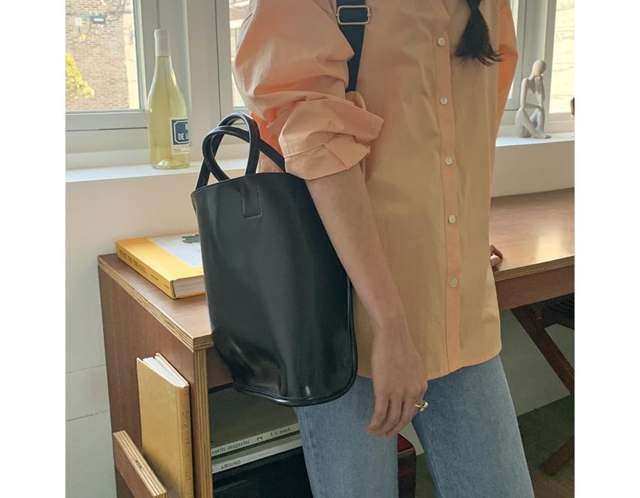 School Square Leather Shoulder Bag