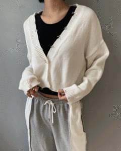 Vintage Vintage Knitwear Cropped Cardigan
