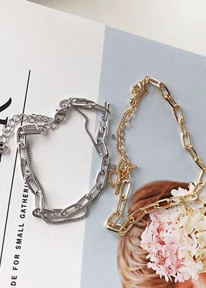 韓國空運 - Tintings Bold Chain Layering Bracelet 手鐲