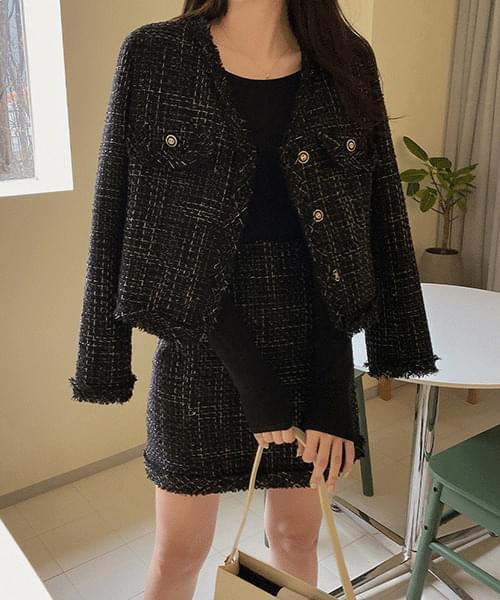 Monet Tweed Jacket-2color 夾克外套
