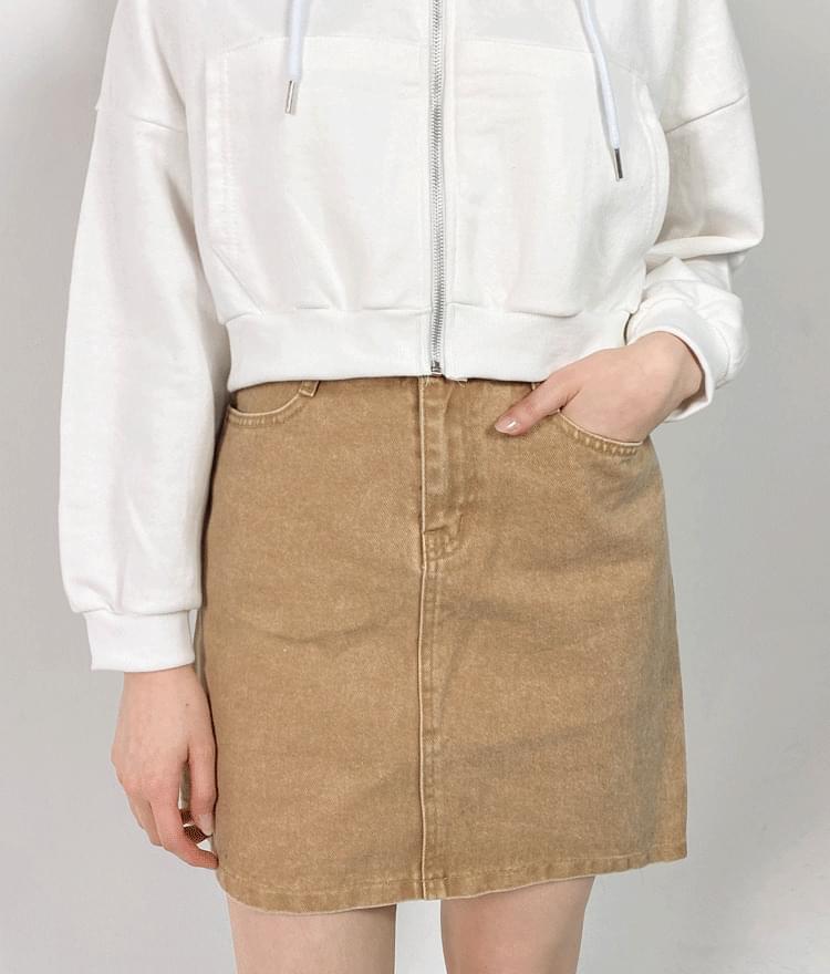 H-Line Cotton Mini Skirt