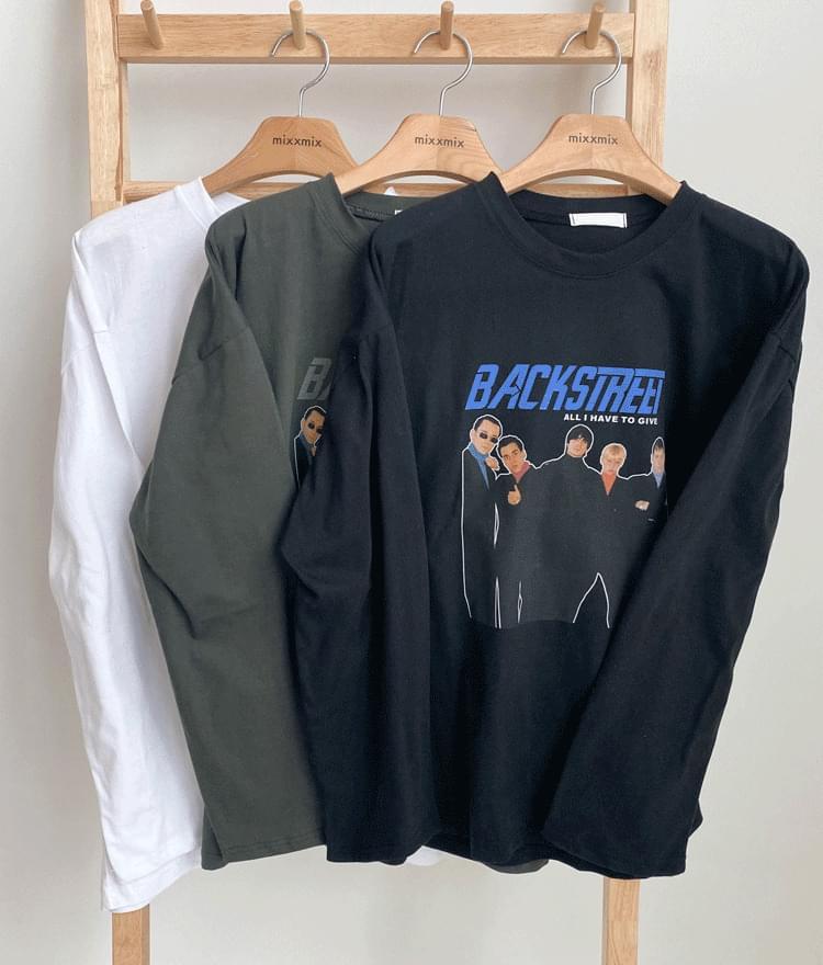 Boy Band Print Loose T-Shirt