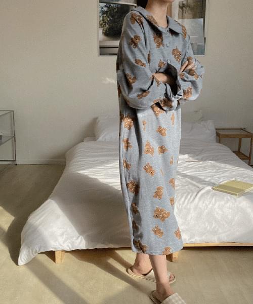 Bear Dress Pajama-Headbandset 及膝洋裝