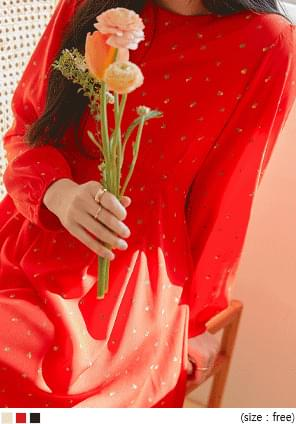 小花圖案壓褶收腰短洋裝
