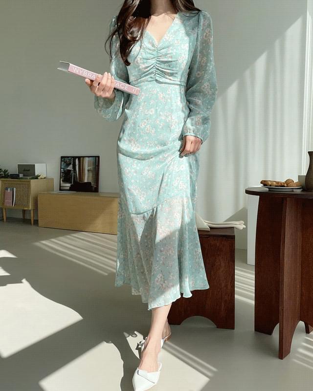 Blended Flower Long Dress 長洋裝