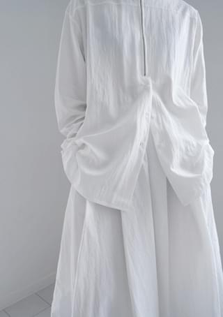 zipper anorak blouse