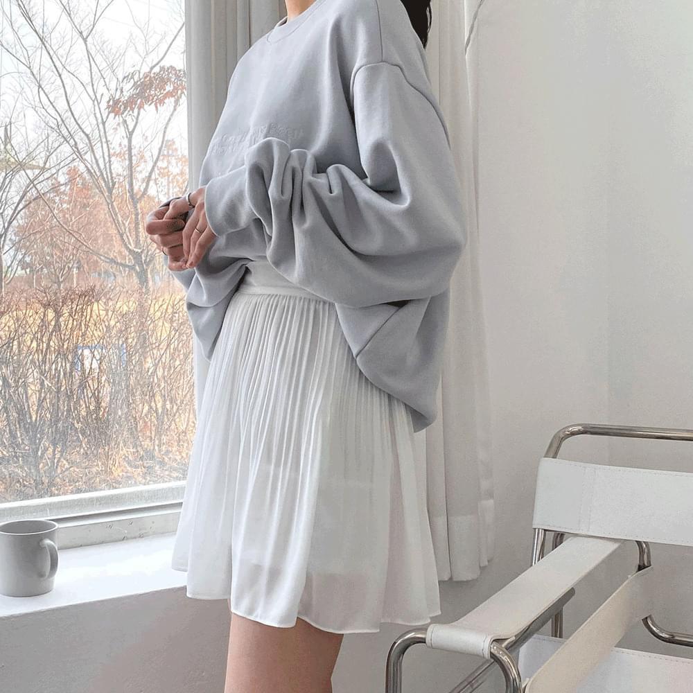 Mini chiffon pleated skirt