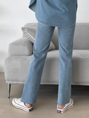 韓國空運 - Rumi hem cut denim pants 牛仔褲