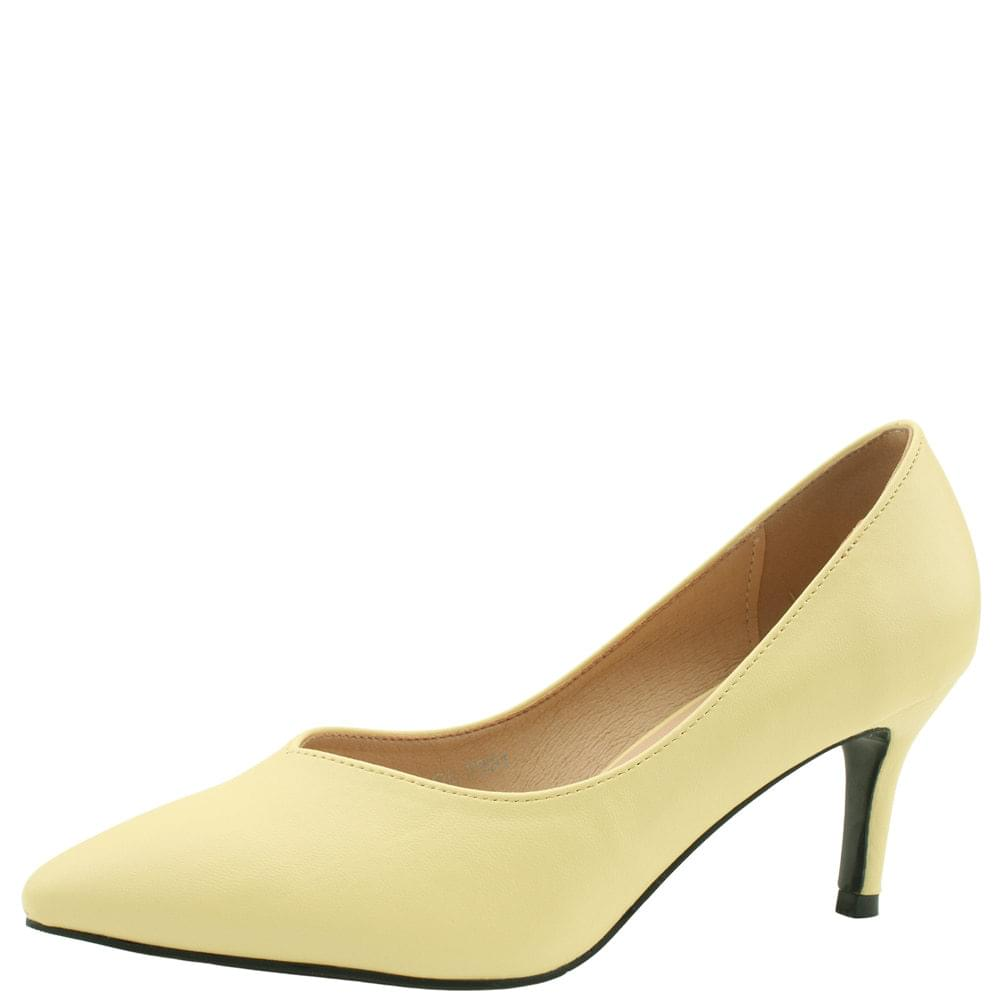 Stiletto high heel shoes 7cm yellow 跟鞋