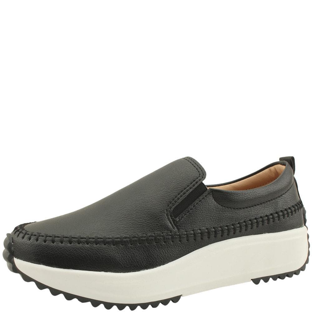 Banding Platform Comfort Slip-on 4cm Black sneakers