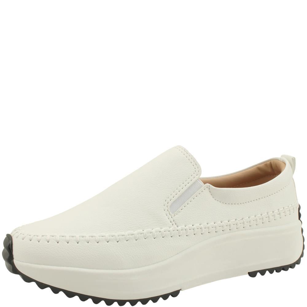 Banding Platform Comfort Slip-on 4cm White sneakers