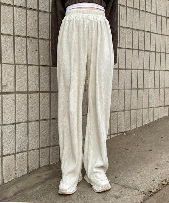 Shea soft banding pleated long trousers 長褲