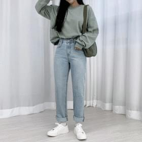 Tabi straight denim trousers