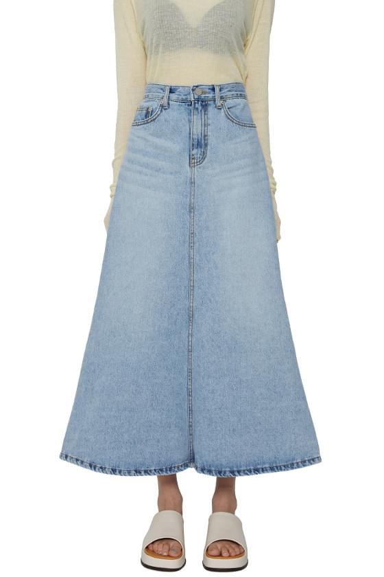 Mermaid denim maxi skirt skirt