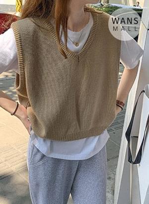 kn3685 Yondy V-Neck Knitwear Vest