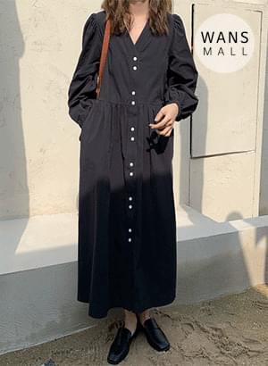 op3705 Burning V-Neck Long Dress 连身裙