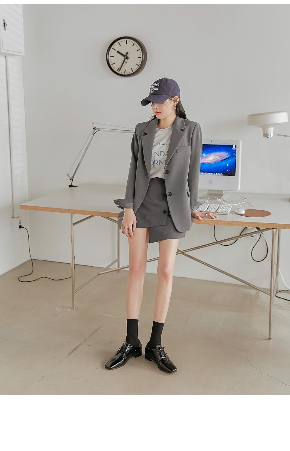 Asymmetrical Mini Skirt