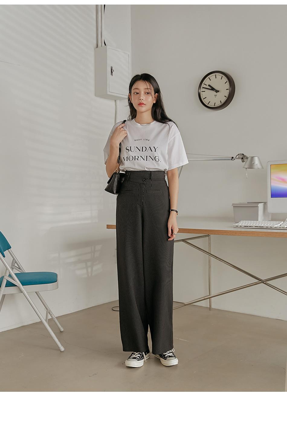 Sunday-Themed Print T-Shirt
