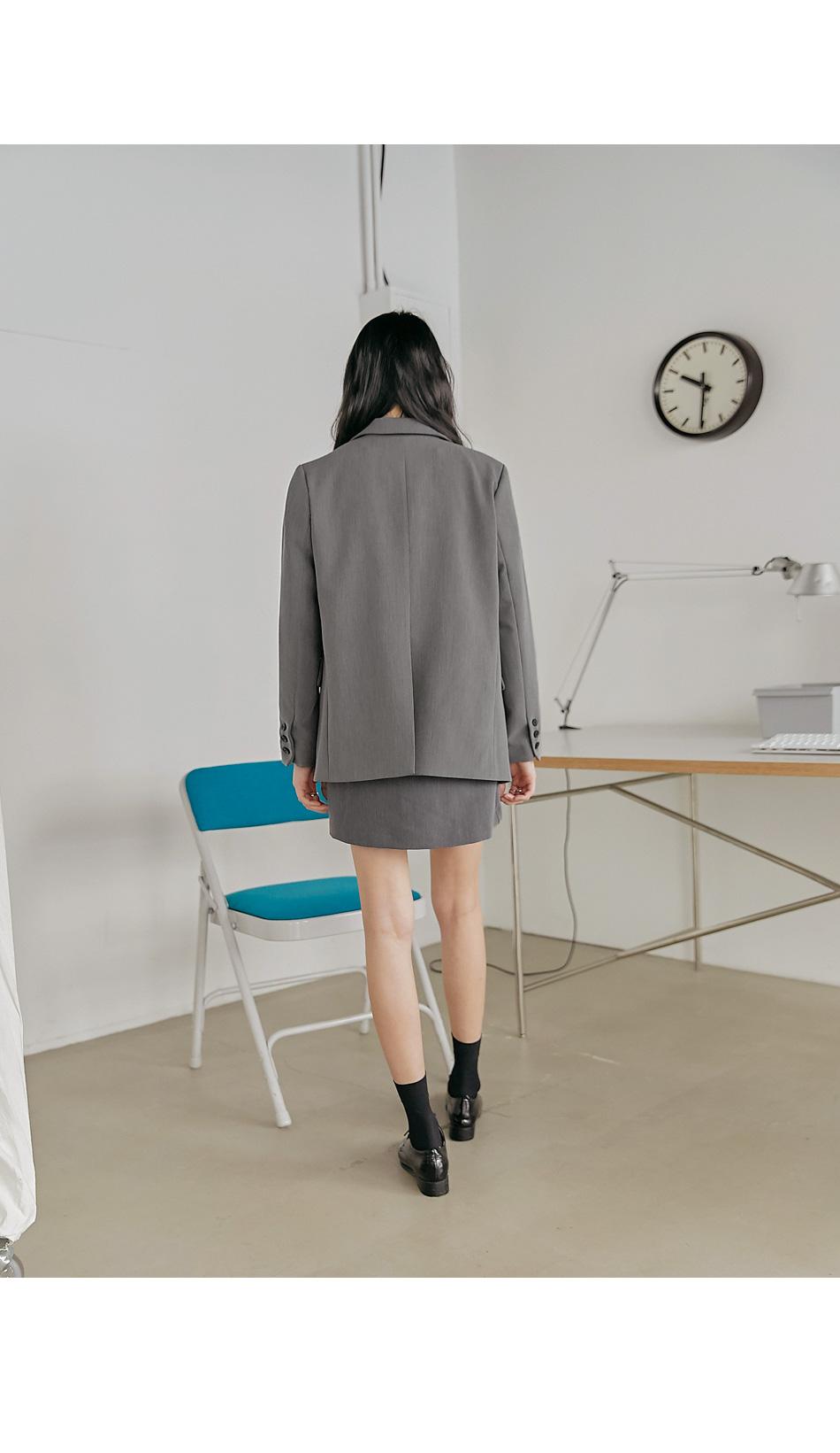 Notch Lapel Long Sleeve Jacket