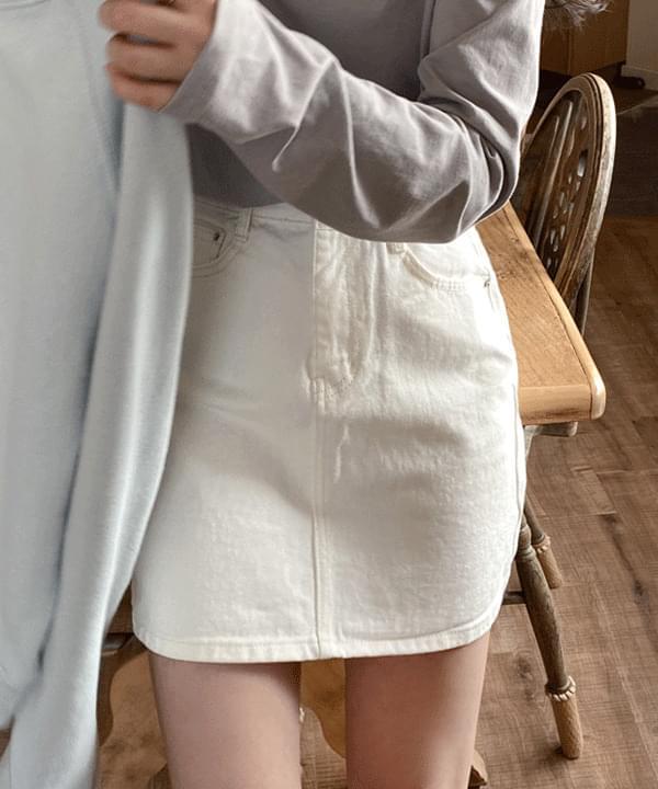 Floor cotton mini skirt skirt