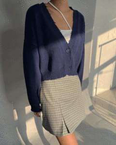 Day Check Pintuck Mini Skirt