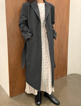 Sienna double long belt coat