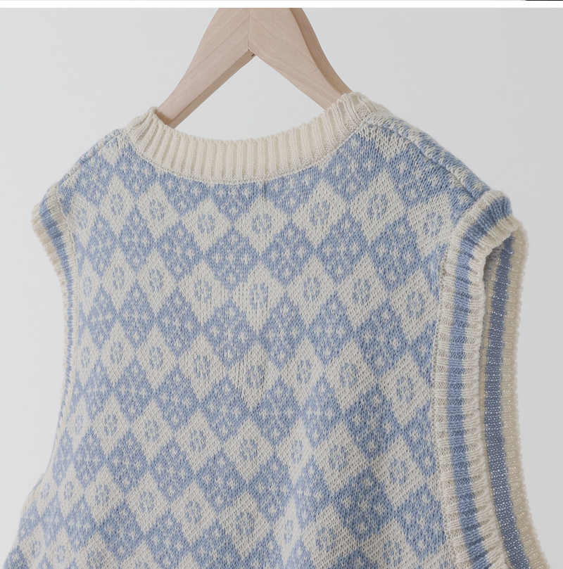 Mini Argyle Knitwear Vest