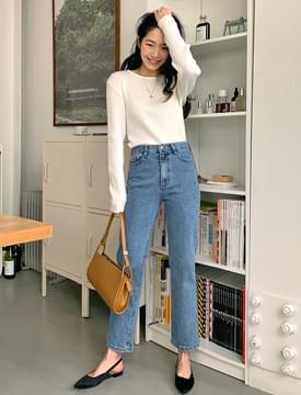 Low Slim Date Denim Pants