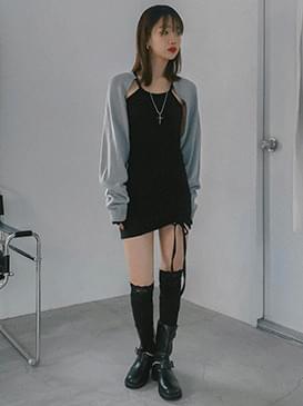 Holter Rev Shirring Dress 及膝洋裝