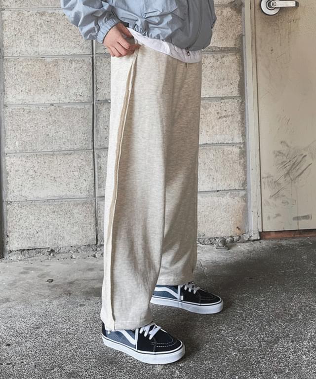 Boy two-way cutting banding pants pants