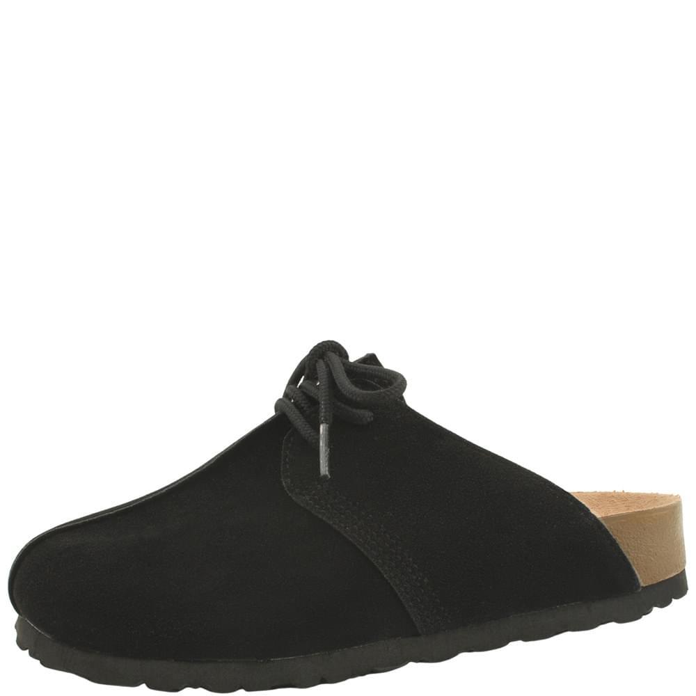 Couple Shoes Ribbon Strap Cushion Mule Blower Black 樂福鞋