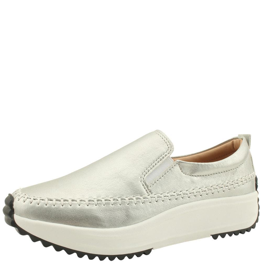 Banding Platform Comfort Slip-on 4cm Silver sneakers