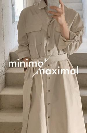 MMMM/ two-way shirt trench